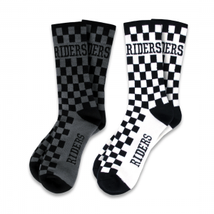 Șosete Bicicletă Downhill/Freeride/Enduro Loose Riders CHECKERS 2-PACK