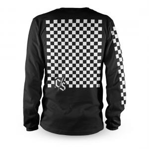 Tricou cu mânecă lungă, pentru downhill si enduro, Loose Riders, CHECK BLACK