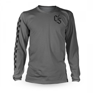 Tricou cu mânecă lungă, pentru downhill si enduro, Loose Riders, CHECK GREY