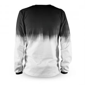 Tricou cu mânecă lungă, pentru downhill si enduro, Loose Riders, DIPPED WHITE