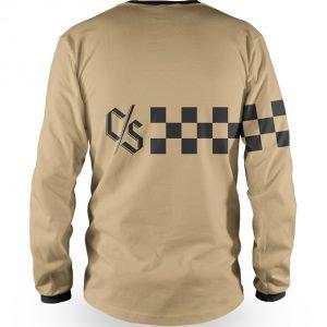 Tricou cu mânecă lungă, downhill/enduro, Loose Riders, VINK RACE TAN