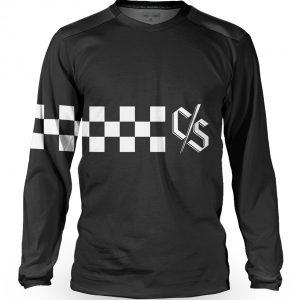 Tricou cu mânecă lungă, downhill/enduro, Loose Riders, VINK RACE BLACK