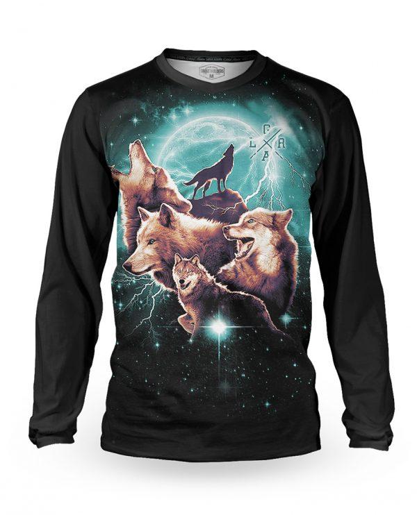 Tricou cu mânecă lungă, downhill/enduro, Loose Riders, WOLFPACK